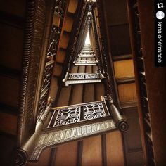 Love the view #lookingup! #Repost @kmalonefrance: Stairwell at the Hearst Building home of the National Trust's San Francisco field office where some of my favorite colleagues work.  @brobsturner #SanFrancisco by savingplaces