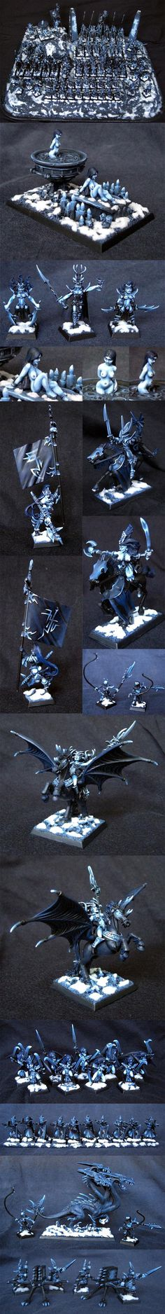 Dark Elves Underworld Style:Painting an army using just one color