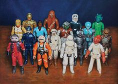 "Allan Innman- ""Back in the Day"" paintings of childhood toys Spoke Art, Pop Culture Art, Childhood Toys, Teaching Art, Back In The Day, Choir, Astronomy, Science Fiction, Illustration Art"