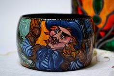 SPECIAL ORDER BARBARA Wooden Bracelet  Bangle by IGORartPAINTING