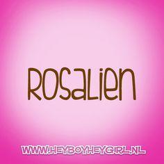 Rosalien  (Voor meer inspiratie, en unieke geboortekaartjes kijk op www.heyboyheygirl.nl)