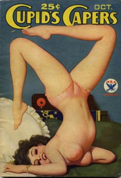 CUPID'S CAPERS | vintage erotic pulp fiction cover art