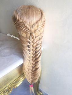 Fishtails into mermaid braid