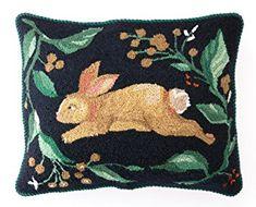 Peking Handicraft Rabbit Run Hook Pillow, 16×20″ Throw Review