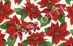 Tassotti - Paper Poinsezia Multi-use decorative paper for cardboard articles, origami, découpage, gift wrap 85 gr