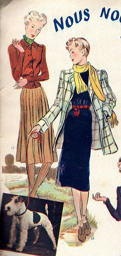 The 1930s-1938 Marie-Claire winter fashion | Flickr - Photo Sharing!