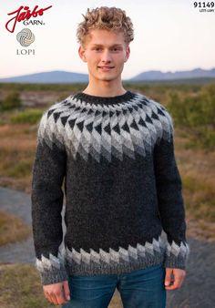 - Icelandic Jón (John) Mens Wool Sweater Black Heather - Tailor Made - Nordic Store Icelandic Wool Sweaters - 1 Thick Sweaters, Wool Sweaters, Mens White Shorts, Handgestrickte Pullover, Icelandic Sweaters, Fair Isle Knitting, Knitting Designs, Knit Crochet, Men Sweater