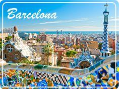 Barcelona Postcard cartoline dal mondo