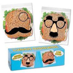 Moustache Sandwich Bags