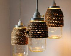 rope art lighting fixture - Google Search