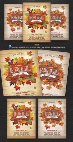 Fall Festival Flyer  Creative Flyer    Font Logo