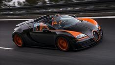 Bugatti Veyron Grand Sport Vitesse convertible world speed record Bugatti Veyron, Bugatti Cars, Lamborghini, Bugatti Models, Ferrari 458, Maserati, Auto Motor Sport, Sport Cars, Guinness