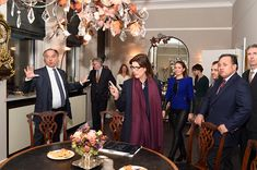 Princess Caroline of Hanover visits the Gassan Diamonds factory with CEO of the Gassan Diamont factory Benno Leeser in Amsterdam, Netherlands. 07 November 2014