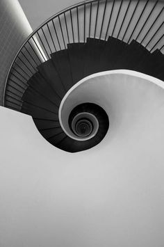 Black and White, Staircase, Spiral