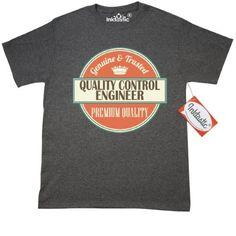 Inktastic Quality Control Engineer Funny Gift Idea T-Shirt Retired Occupations Job Premium Vintage Logo Clothing Classic Career Mens Adult Apparel Tees T-shirts Hws, Size: Medium, Black