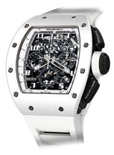 "Richard Mille - RM 011 Automatic Flyback Chronograph ""White Ghost""   EMWA - Relojes Cartier, Hublot, IWC y más joyería de lujo."
