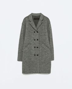 Image 8 of BUTTONED WOOL COAT from Zara