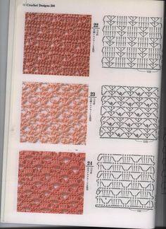 Irish lace, crochet, crochet patterns, clothing and decorations for the house, crocheted. Crochet Motifs, Crochet Borders, Crochet Diagram, Freeform Crochet, Crochet Stitches Patterns, Crochet Chart, Knitting Stitches, Crochet Designs, Stitch Patterns