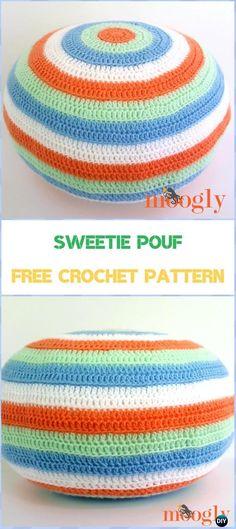 Crochet Sweetie Pouf Free Pattern - Crochet Poufs & Ottoman Free Patterns