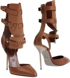 Sergio Rossi Brown Gladiator Style Pumps €424 #Shoes #Heels