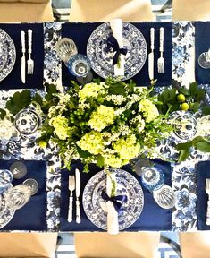 Giving Thanks In Blue & White