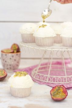 Coconut Cupcakes with Passion Fruit