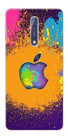 5148fbcb947 Digiprints Metal Apple Logo Printed Designer Back Case Cover For Nokia 8