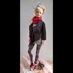 Barbie I, Barbie And Ken, Barbie Clothes, Clothing Ideas, Punk, Dolls, Friends, Pattern, Style