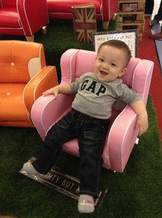Cutest baby on our Mini Sofa!