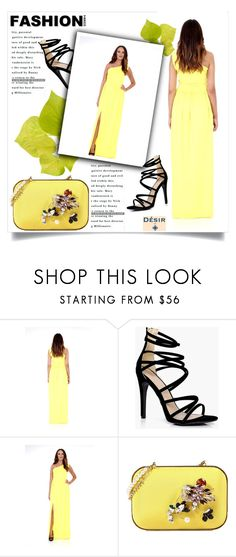 """""""Desir Vale"""" by amra-mak ❤ liked on Polyvore featuring Boohoo, Dsquared2, DesirVale and plus size dresses"""
