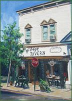 The Village Tavern Restaurant & Inn in Hammondsport, New York has one of the best wines lists in the Finger Lakes and in good weather a few outside tables on the Hammondsport town square.