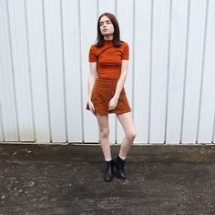 Orange on orange  #ootd #wiw #styleblogger #styleblog #FBlogger #americanapparel by double3xposure