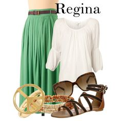 """""""Regina - Rock of Ages"""" by thebroadwaywardrobe on Polyvore"""