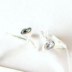 Sterling Silver Post Earrings with Half Brilliant by LulyJewelry, $24.00