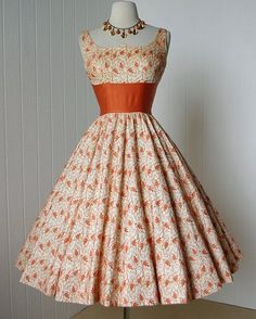 1950's embroidered party dress.