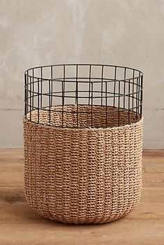 Rubbish Bin - Could we make this? - Cage Basket - Anthro