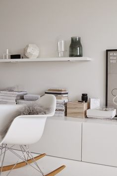 #Eames RAR rocking chair * grey sheepskin * keeping it simple