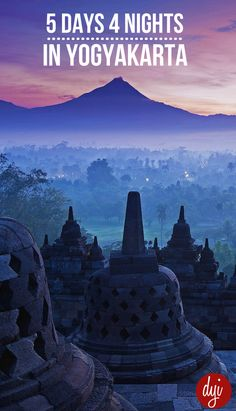 Ready to use 5 day 4 night travel itinerary for Yogyakarta, Indonesia. Do all the tourism highlights of the city with this city itinerary.