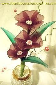 flores de medias - Buscar con Google