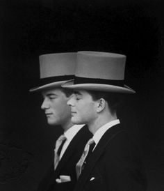1960: Lord Oxmantown and Martin Parsons, Antony Armstrong-Jones' brothers arrive at Westminster Abbey for his wedding to Princess Margaret