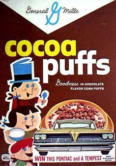 Cocoa Puffs cereal  c. 1961