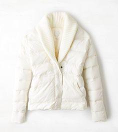 AEO Get Down Shawl Collar Puffer Jacket