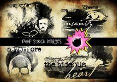 Check out Edgar Allan Poe Digital Photo Masks by popstock on Creative Market