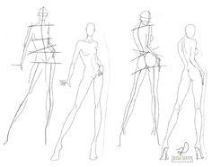 Fashion Drawing Tutorial, Fashion Figure Drawing, Fashion Model Drawing, Fashion Illustration Poses, Fashion Illustration Template, Fashion Figure Templates, Fashion Design Template, Fashion Design Portfolio, Fashion Design Drawings