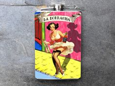 FN403 Sexy loteria La Borracha Decorated 8oz. by dnacreations, $18.00 Loteria Cards, Tattoo Photography, Wine Wall, Beer Recipes, Mexican Art, Flask, Liquor, Pin Up, Sketches