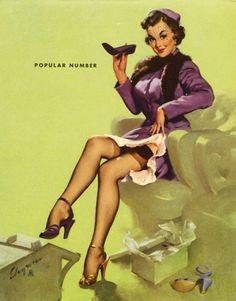"""Popular Number"", 1953 by Gil Elvgren  #307"
