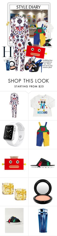 """Untitled #1064"" by kisses4u ❤ liked on Polyvore featuring MSGM, Moschino, Apple, Charlotte Olympia, Fantasia by DeSerio, MAC Cosmetics, Thierry Mugler, robots, boysfashion and AllSummer16"