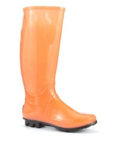 JuJu Orange Glow In The Dark Wellies