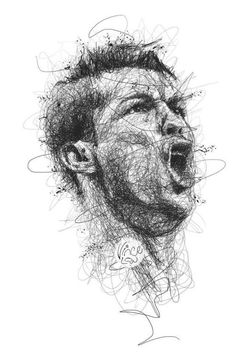 Drawing in pencil scribbles - Cristiano Ronaldo (CR7) by Vince Low