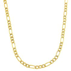 Fremada 10k Yellow Gold 3.6-mm Figaro Link Chain (18-24 inches) (18-inch), Adult Unisex, Size: 18 Inch